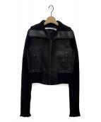 PERVERZE(パーバーズ)の古着「フェイクレザージャケット」 ブラック