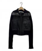 PERVERZE(パーバーズ)の古着「フェイクレザージャケット」|ブラック