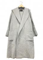 Plage(プラージュ)の古着「オーバーサイズフードコート」|ライトグレー