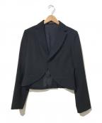 Y'S YOHJI YAMAMOTO(ワイズ ヨウジヤマモト)の古着「燕尾デザインウールギャバショートジャケット」 ブラック