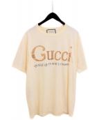 GUCCI(グッチ)の古着「20SS グリッタープリントTシャツ」|アイボリー