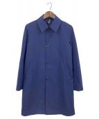 ()の古着「ステンカラーコート」|ブルー