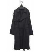 stein(シュタイン)の古着「DEFORMATION TRENCH COAT」|ブラック
