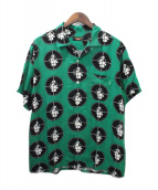 ()の古着「18SS Public Enemy Rayon Shirt」|グリーン