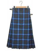GLEN FYNE(グレンファイン)の古着「SLOBE別注プリーツスカート」|ブルー