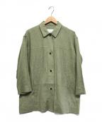STUDIOUS(ステュディオス)の古着「リネンオーバーサイズシャツ」|オリーブ