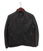 ARMANI COLLEZIONI()の古着「キルティングシングルライダースジャケット」|ブラック