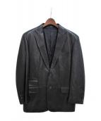 ()の古着「レザーテーラードジャケット」 ブラック
