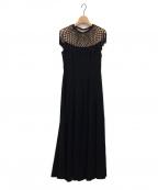 Lily Brown(リリーブラウン)の古着「マクラメロングドレス」 ブラック