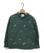 mina perhonen()の古着「刺繍ブラウス」|グリーン