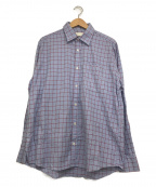 NEON SIGN(ネオンサイン)の古着「チェックシャツ」|スカイブルー