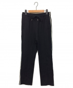 YOKE(ヨーク)の古着「KNIT LINE TAPE TRACK PANTS」 ブラック