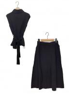 CELFORD(セルフォード)の古着「ニットプル&スカートセットアップ」|ブラック