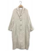 かぐれ(カグレ)の古着「シルクリネンチェスターコート」|ベージュ