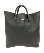 YOUNG & OLSEN The DRYGOODS STORE()の古着「EMBOSSED LEATHER TOTE」|ブラック