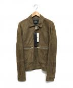 REPLAY(リプレイ)の古着「レザージャケット」|ベージュ