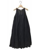 ()の古着「ダブルレイヤードレス」|ブラック