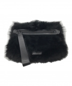 Marc by Marc Jacobs(マークバイマークジェイコブス)の古着「ファークラッチバッグ」 ブラック