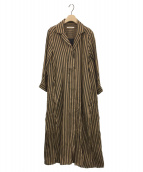 POMANDERE(ポマンデール)の古着「シャツワンピース」|キャメル