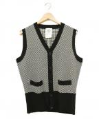 Black Fleece(ブラックフリース)の古着「カシミヤ混ニットベスト」|ホワイト×ブラック
