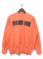 kolor/BEACON(カラービーコン)の古着「garment dye logo print pc sw」|オレンジ