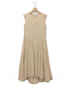 CASA FLINE(カーサフライン)の古着「リネンイレヘムノースリドレス」|ベージュ