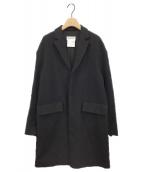 ()の古着「チェスターコート」|ブラック