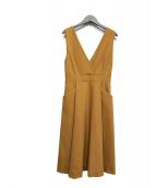 ESTNATION(エストネーション)の古着「ジャンパースカート」|ベージュ