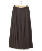 ()の古着「プリーツスカート」 ブラウン