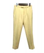 Whim Gazette(ウィムガゼット)の古着「フラノテーパードパンツ」|イエロー