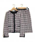 LAUTRE AMONT(ロートレアモン)の古着「ツィードセットアップスーツ」 ピンク