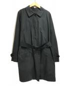 MARGARET HOWELL(マーガレットハウエル)の古着「ライナー付ステンカラーコート」|ブラック