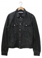 JOHN LAWRENCE SULLIVAN()の古着「OILED COTTON JEAN JACKET」|ブラック