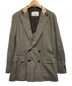 KOLOR()の古着「ダブルブレスドジャケット」|グレー×ブラウン