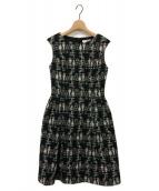 ()の古着「レディーマリー ドレス ツイード ワンピース」|ブラック