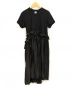 noir kei ninomiya(ノワール ケイ ニノミヤ)の古着「ドッキングワンピース」|ブラック