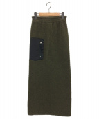 MM6 Maison Margiela(エムエムシックス メゾンマルジェラ)の古着「タイトスカート」|オリーブ