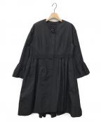 FOXEY BOUTIQUE(フォクシー ブティック)の古着「ノーカラーコート」|ブラック