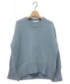 GALERIE VIE(ギャルリーヴィー)の古着「ファインウールクルーネックニット」|ライトブルー