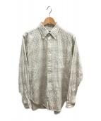 ()の古着「ピンチェックシャツ」 ホワイト
