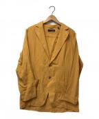 LARDINI()の古着「リネンソリッドテーラードジャケット」 イエロー
