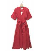 BED&BREAKFAST(ベッド・アンド・ブレックファスト)の古着「コットンブロードドレス」|レッド