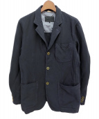 ()の古着「ポリ縮絨製品染ジャケット」|ブラック