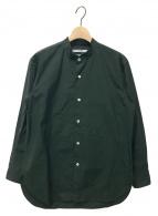 ()の古着「マオカラーシャツ」|グリーン