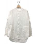 ()の古着「バンドカラーシャツ」|ホワイト