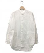 Yarmo(ヤーモ)の古着「バンドカラーシャツ」 ホワイト