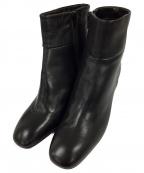 FABIO RUSCONI()の古着「ショートブーツ」 ブラック