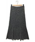 VERMEIL par iena(ヴェルメイユ パー イエナ)の古着「モールレースマーメイドスカート」|グレー