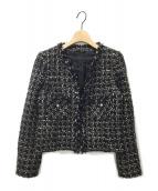 ANAYI(アナイ)の古着「ツイードジャケット」|ブラック