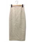 ()の古着「ウールシャギーペンシルスカート」|ホワイト